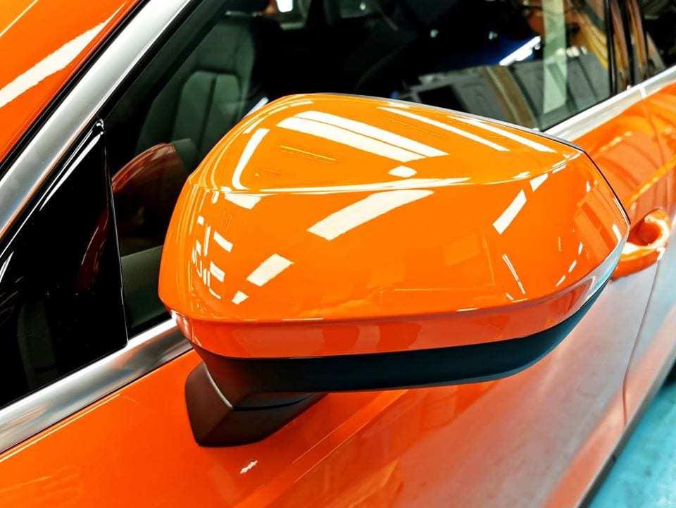 An Audi Q3 - side mirror