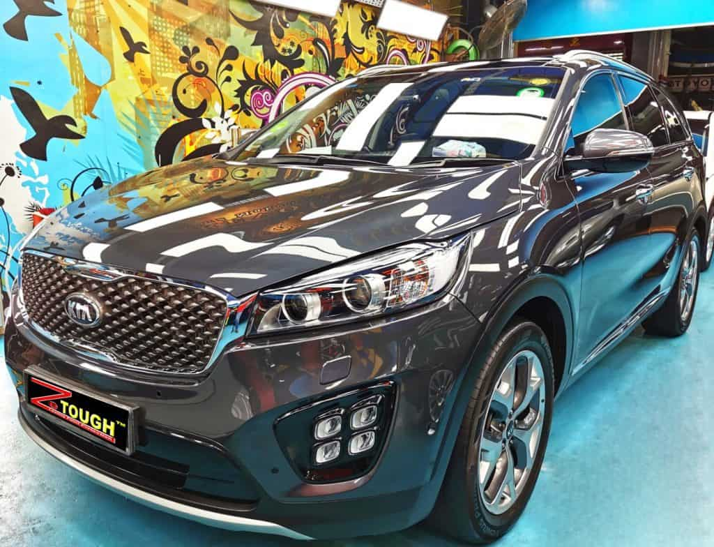 Kia Sorento looking good in our Ceramic Paint Protection