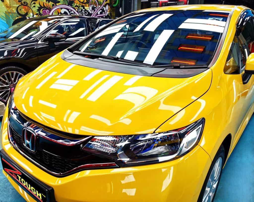 A Savvy Yellow Honda Jazz for Ceramic Paint Protection