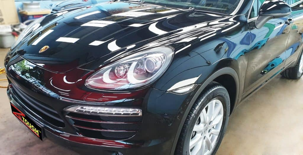 Porsche Cayenne Gets Lasting Gloss with Paint Protection