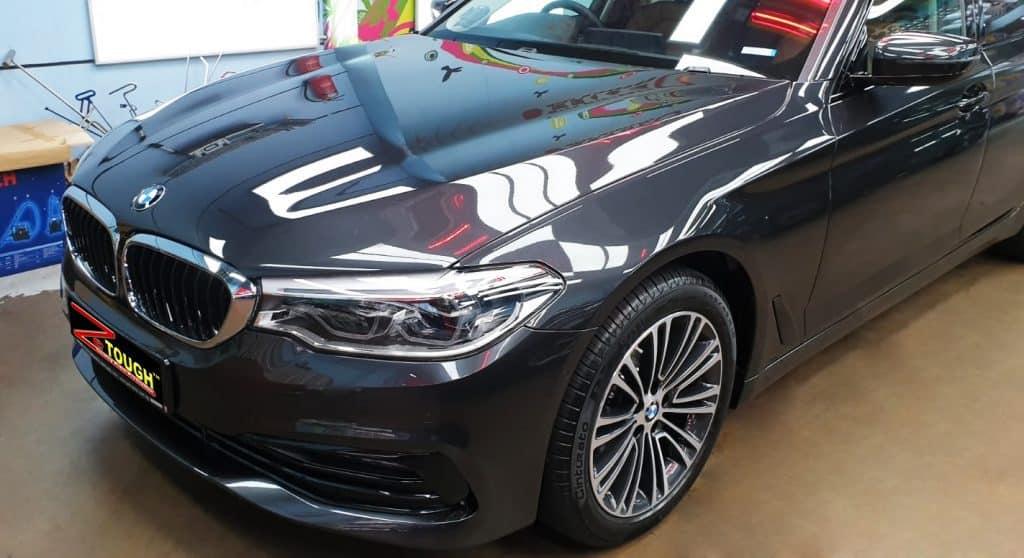 BMW 520i checked-in for ZeTough Titanium premium treatment
