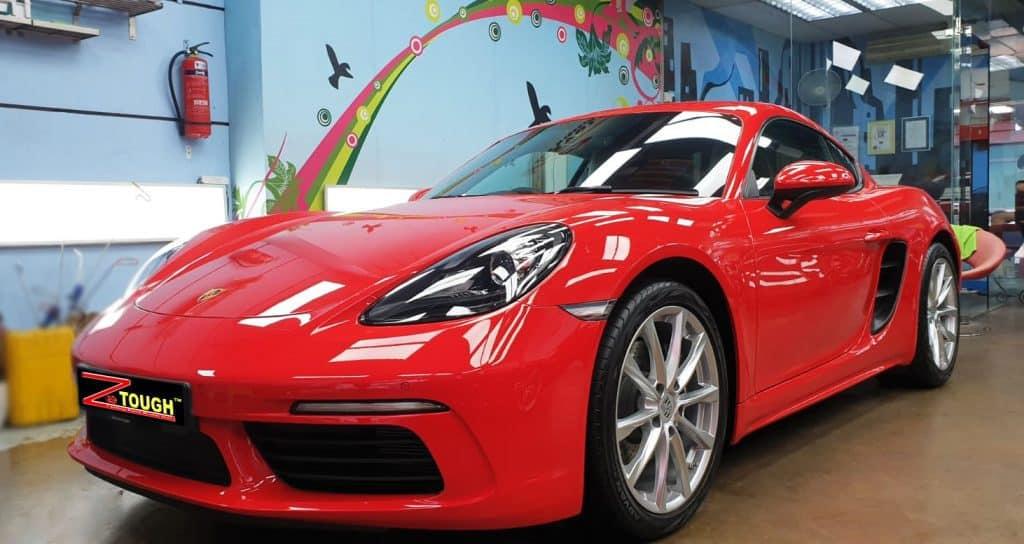 Impressive Porsche 718 Cayman with Ceramic Paint Protection