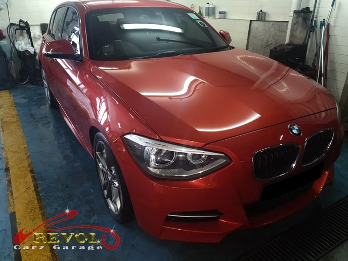 BMW CS 3 - BMW 135i's carwash and vacuum done