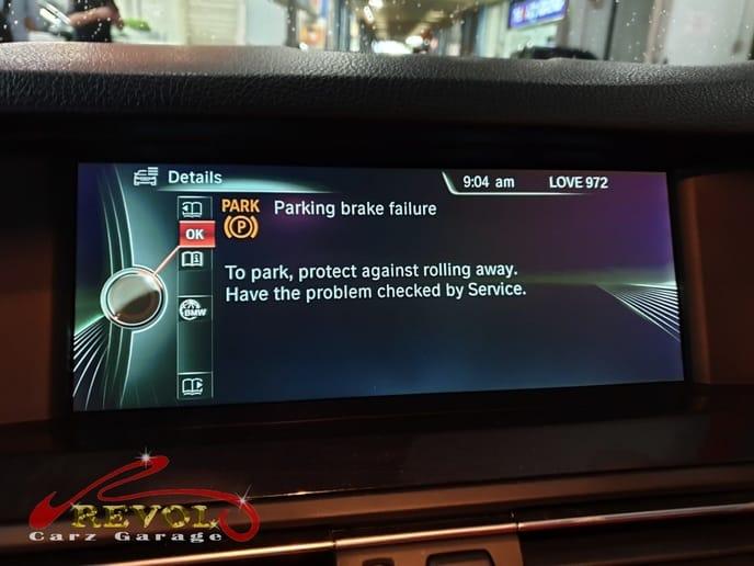 BMW Case Study 9: BMW 5 Series Parking Brake Fault Code
