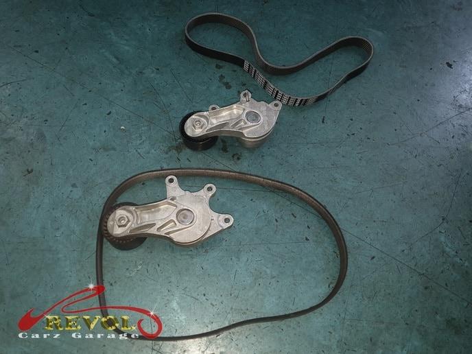 BMW CS 13: BMW 520i Minor Crack on Fan Belt and Coolant Pump