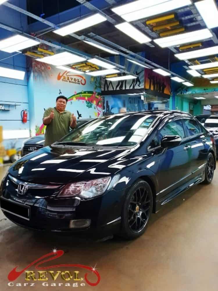Car Servicing Testimonials: Honda Civic Accident Damaged Repaired