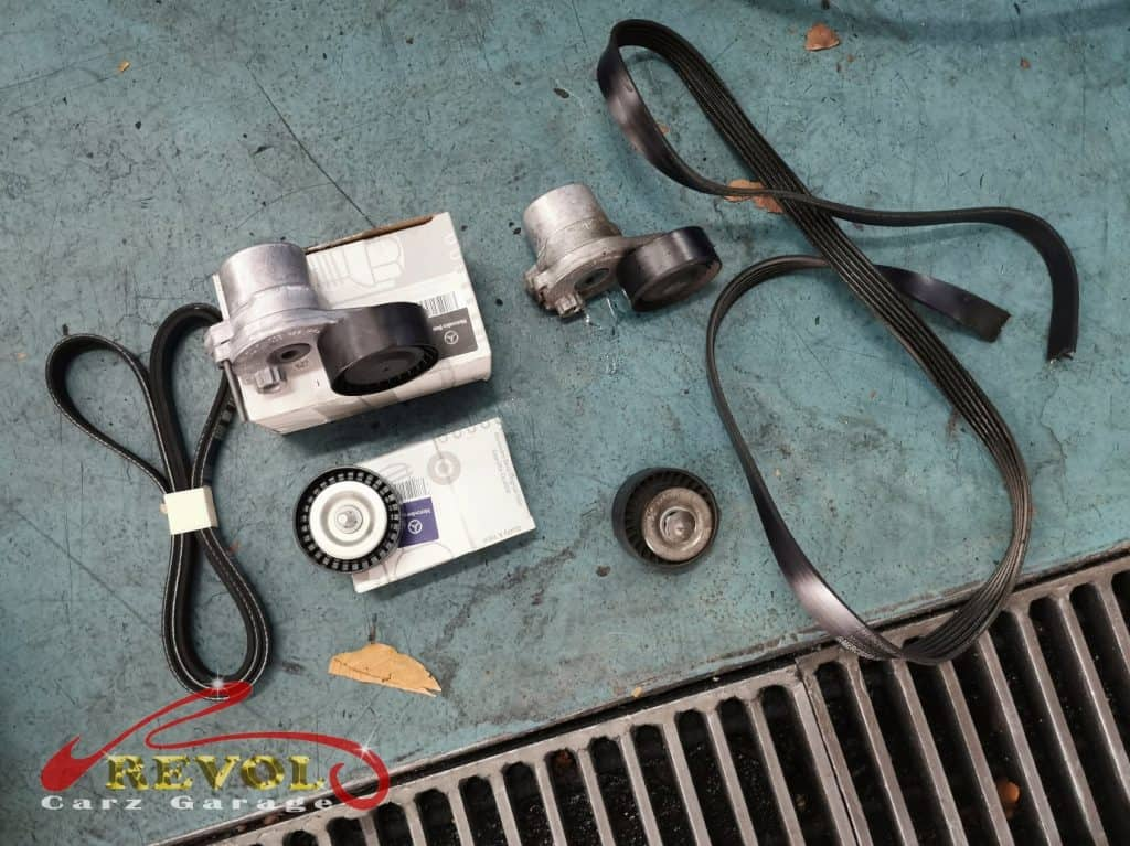 Mercedes-Benz Case Study 8: E200 Pulley belt replaced