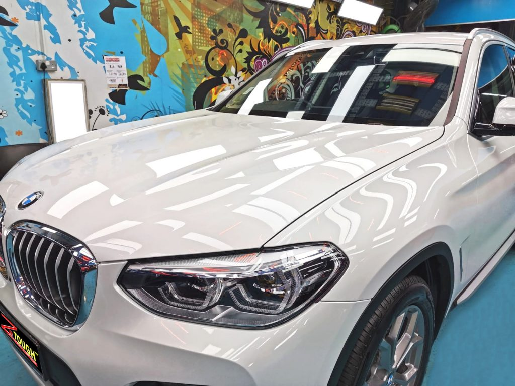 Dazzling White BMW X3 with its Titanium Paint Protection