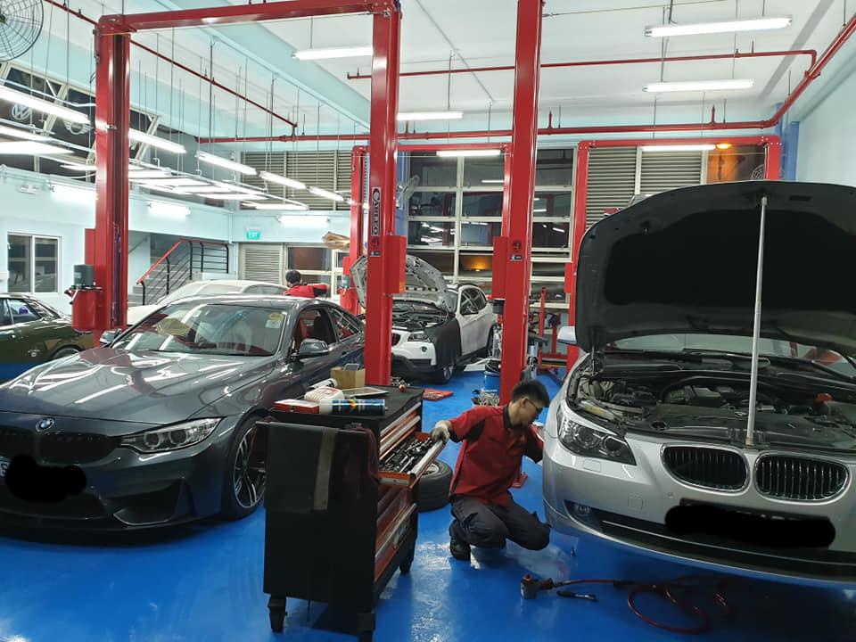 BMWs under repair