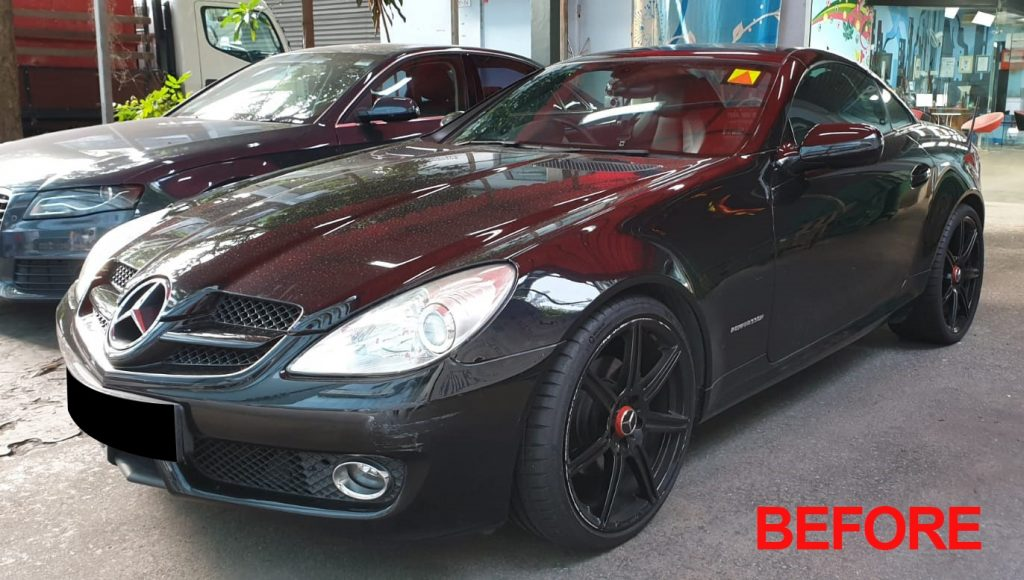 Day 7 Follow up on the Mercedes Benz SLK200 Full Car Respray