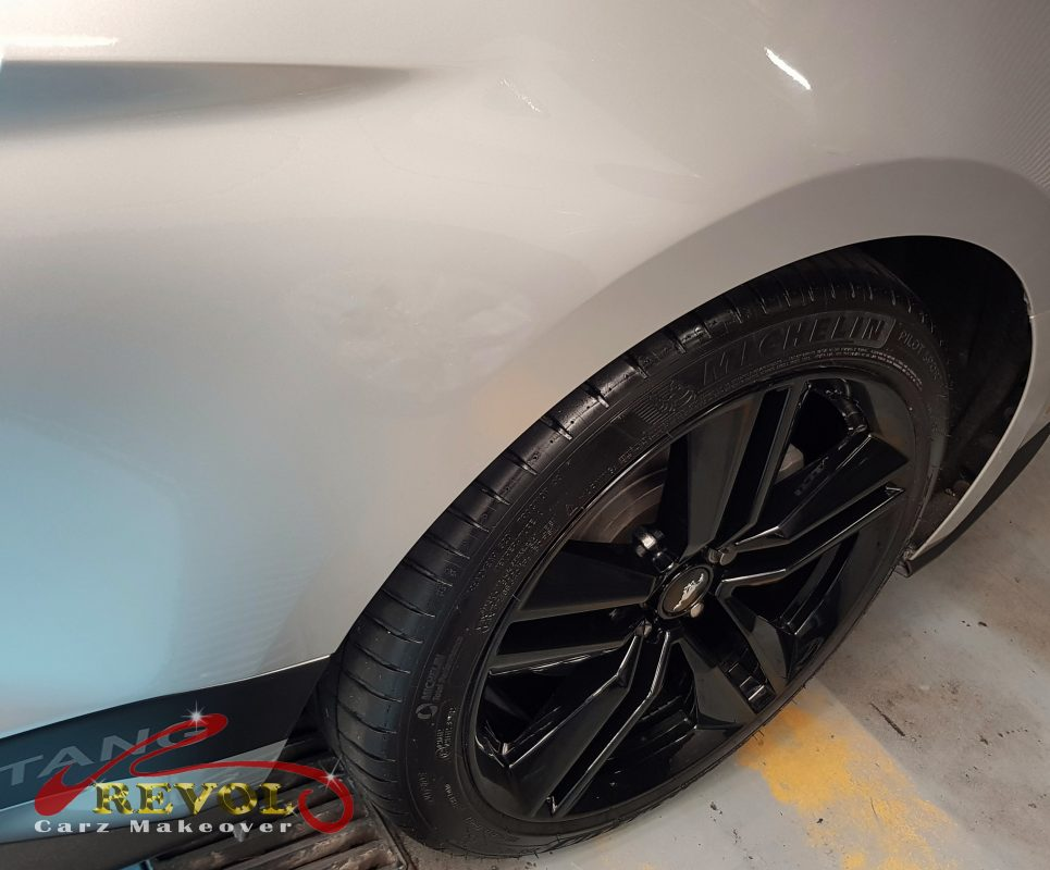 Partial Respray for Ford Mustang. Scratches repair? Call us!