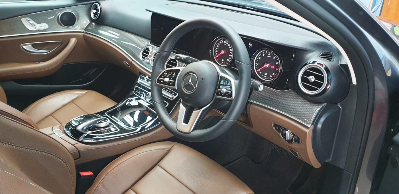 Elegant Mercedes Benz E180 with Ceramic Coating Paint